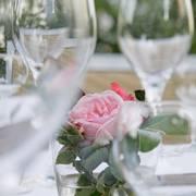 Dekoration mit Rose